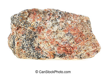Granite stone isolated over white background