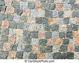 granite stone pavement texture background