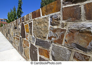Granite Stone Retaining Wall for Garden Landscape