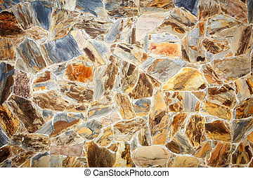 Granite stone wall pattern