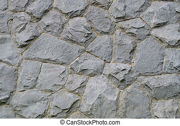 Granite stone wall texture and background