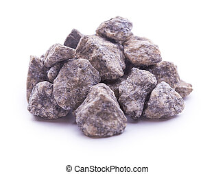 granite stones isolated on the white background