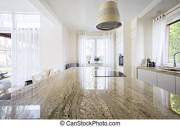 Granite worktop inside apartment - Granite worktop inside...