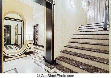 granitic, 楼梯, 在中, 奢侈, 住处