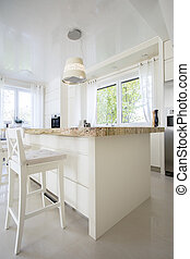 Granitic kitchen island