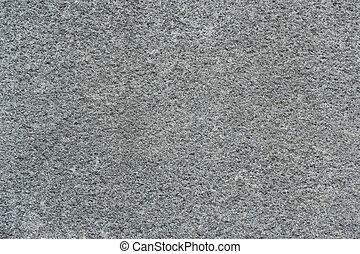 granito, áspero, cinzento, textura