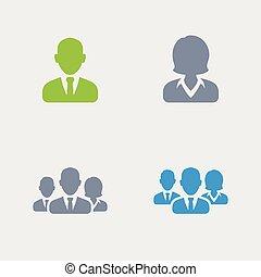 granito, -, avatars, icone affari