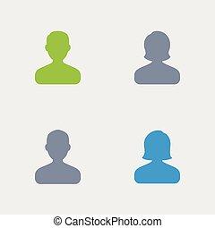 granito, -, avatars, icone