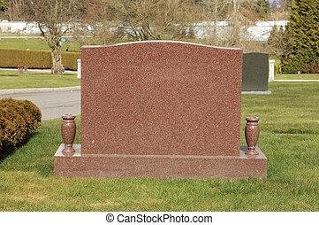 granito, Lápida