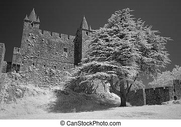 granito, medievale, castello