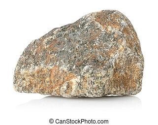 granito, pietra, isolato