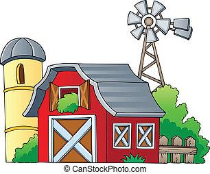 granja, 1, tema, imagen