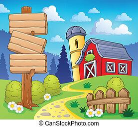 granja, 8, tema, imagen