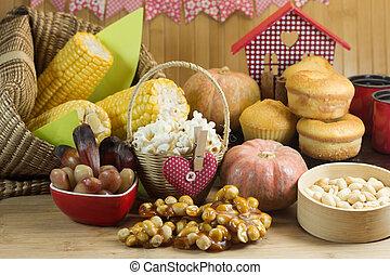 granja, alimento, brasileño