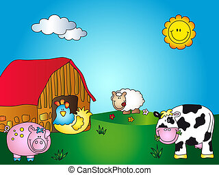 granja, caricatura
