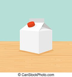 granja, caricatura, leche