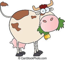 granja lechera, vaca