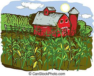 granja, maíz