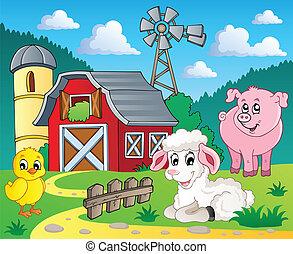 granja, tema, 5, imagen