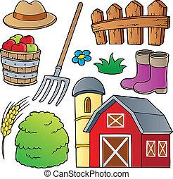 granja, tema, colección, 1