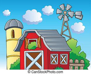 granja, tema, imagen, 2