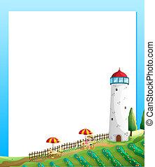 granja, torre, picnic