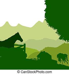granja, verde