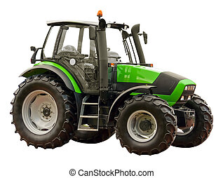granja, verde, tractor