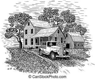 granjero, producto, el suyo