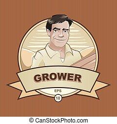 granjero, trabajador