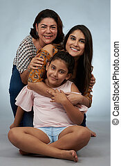 Granma with daughter and granddaughter