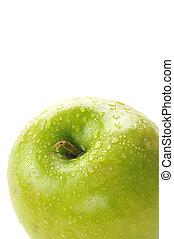 Granny Smith Apple - Closeup of a Granny Smith apple with...