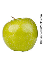 Granny Smith Apple - Granny Smith apple isolated on a white...