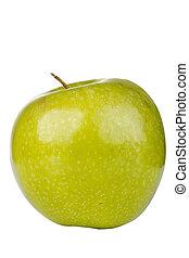 Granny Smith Apple - Granny Smith apple isolated on a white...
