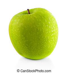 Granny Smith apple. - Granny Smith apple on white background