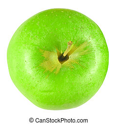 Granny Smith Apple - Green Granny Smith apple - isolated...
