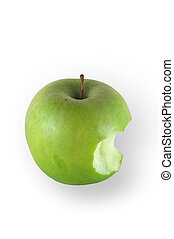 Granny smith apple isolated on white and clipping path...