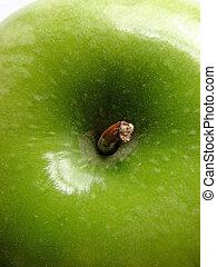 Granny Smith Apple - Macro isolated shot of a granny smith ...