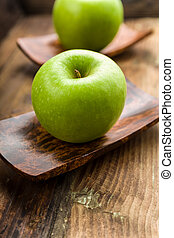 granny Smith apple on a background