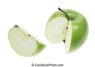 Granny Smith Apple on White Background