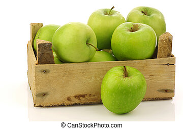 """Granny Smith"" apples - freshly harvested ""Granny Smith""..."