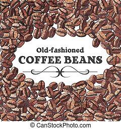 grano de café, plano de fondo, asado