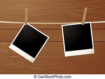 grano legno, polaroid