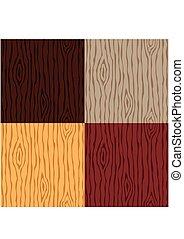 grano legno, struttura, set., seamless, legno, pattern., astratto, fondo., vettore, illustrazione