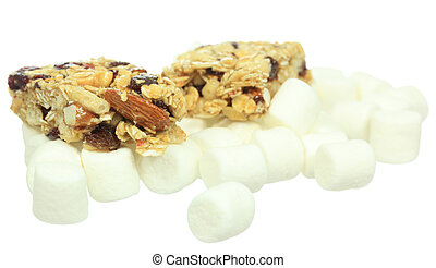 Granola and Marshmallows - A photo of some granola bars and...