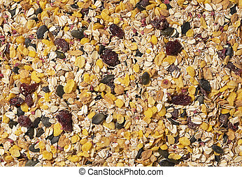 Granola photographed on the entire screen - Granola taken ...