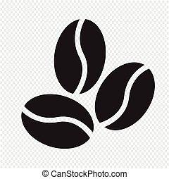 granos de café, icono