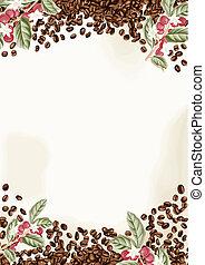 granos de café, plano de fondo