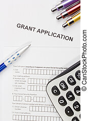 Grant Application - Directly above photograph of a grant ...