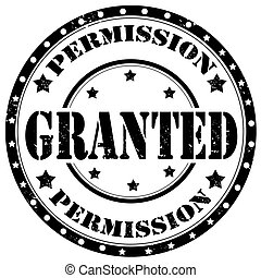 Granted-stamp - Grunge rubber stamp with text Granted,vector...